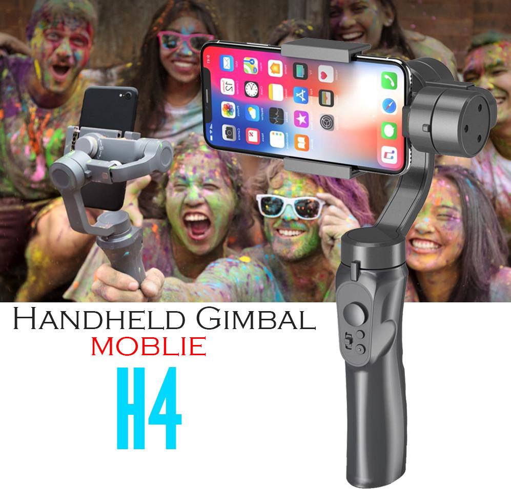 Hình ảnh Tay cầm Gimbal Bluetooth Chống Rung 3 Trục Cho Điện Thoại 3-Axis H4 Cao Cấp AZONE