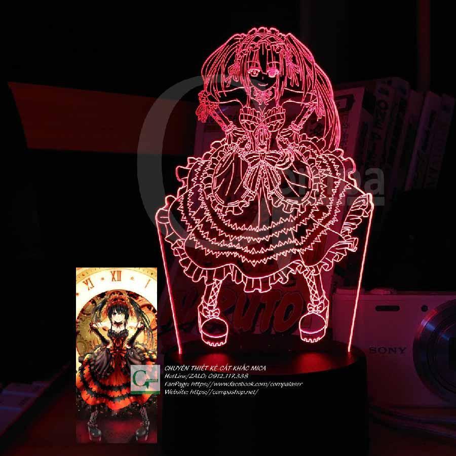 Đèn Ngủ ANIME ĐÈN LED 3D Date A Live Kurumi Refrain Type 01 ADAL0101 16 Màu tùy chỉnh, quà tặng độc đáo