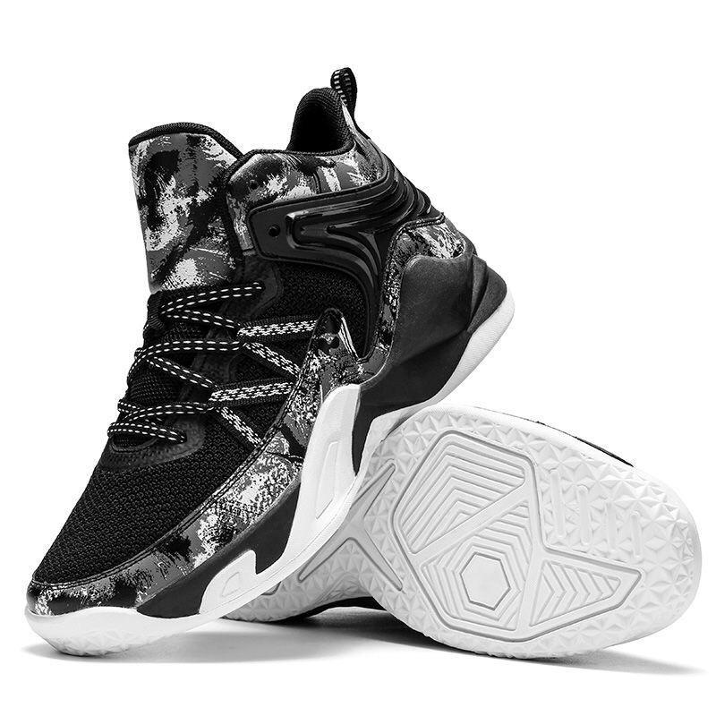Giày bóng rổ nam A23 - màu đen trắng