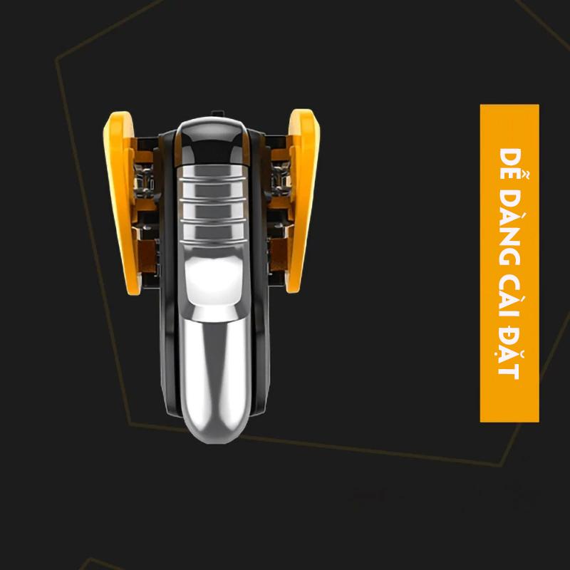 Bộ 2 nút bấm chơi game PUBG VINETTEAM CH-2 BEE, tay cầm chơi game dành cho điện thoại android/ios-4109-hàng nhập khẩu
