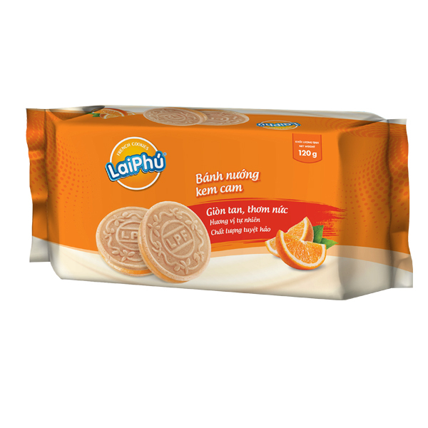 Bánh Cookie Lai Phú Kem Cam 120g