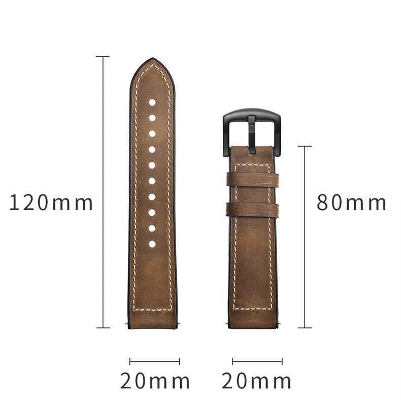 Dây da Hybrid Size 20 cho Galaxy Watch, Gear S2