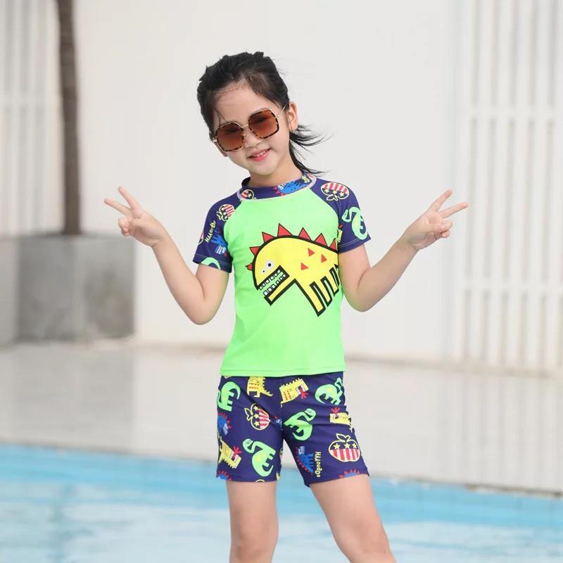 Bộ đồ bơi liền thân và bikini cho bé trai bé gái tặng kèm mũ bơi