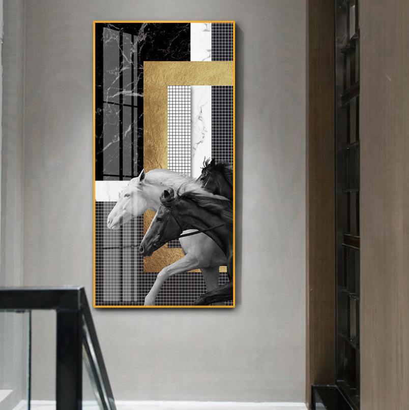 Tranh canvas Lipizzan Golden 60X120CM