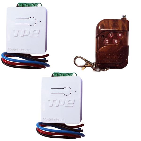 Bộ 2 công tắc điều khiển từ xa TPE RC5H - 220V, 800W + 1 remote RM04 - 315Mhz, sx tại Việt Nam