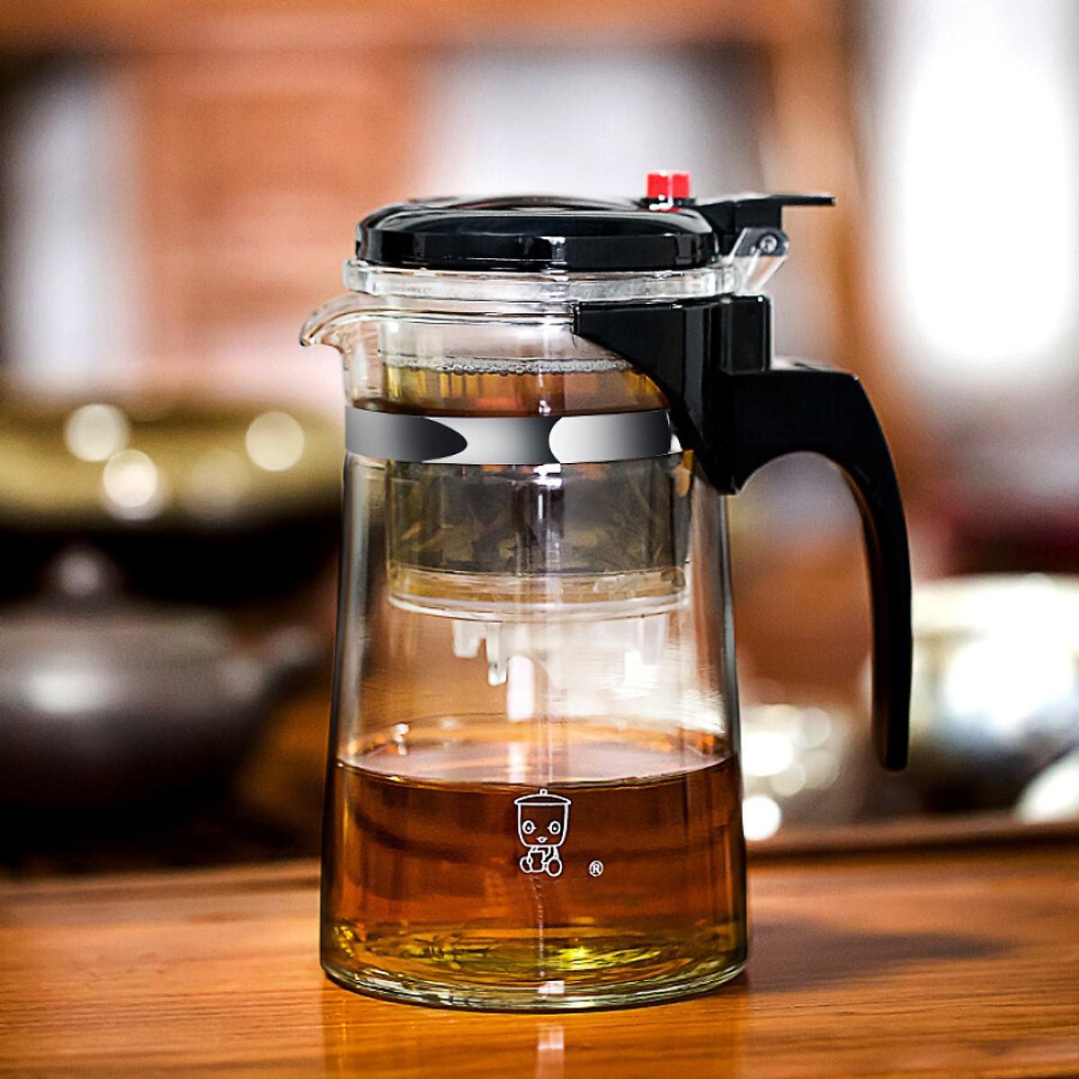Bộ lọc trà, Bình pha trà, Ấm pha trà thủy tinh chịu nhiệt có lõi lọc 750ml