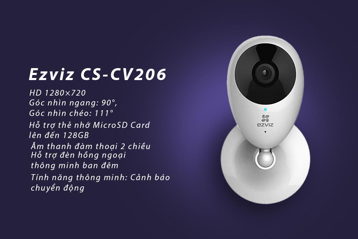 Camera IP Wifi Ezviz CS-CV206 720P - Hàng Chính Hãng