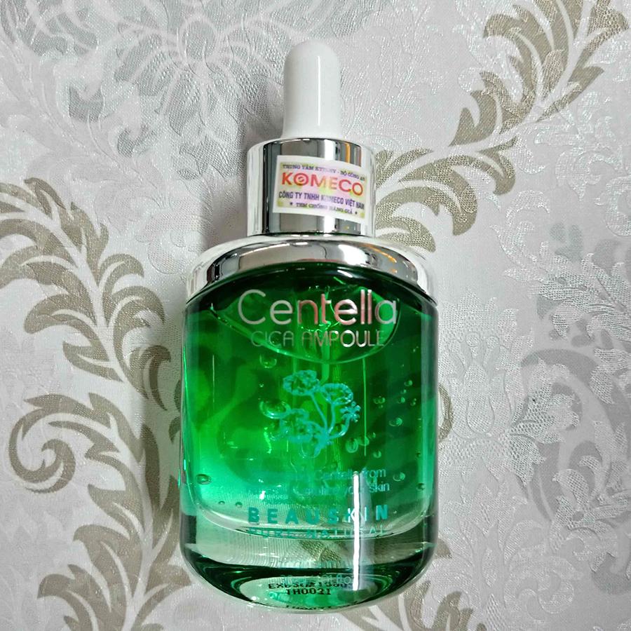 Tinh chất ngừa lão hóa trắng da Beauskin Centella Cica Ampoule Hàn Quốc 30ml tặng kèm móc khoá