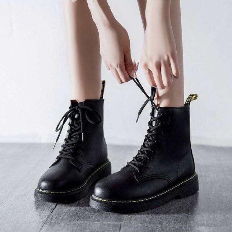 GIÀY BỐT NỮ CỔ CAO MARTIN THỜI TRANG MỚI   - PKT fashion