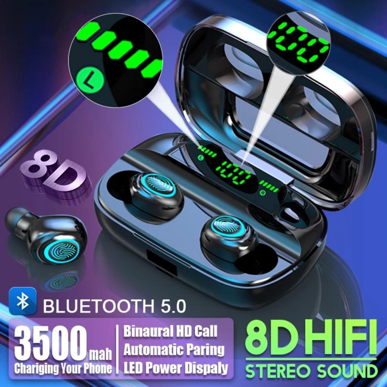 Tai nghe bluetooth 5.0 âm thanh nổi 8D phiên bán mới nhất M11