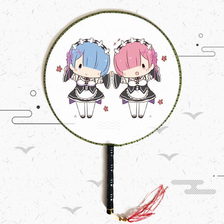 Quạt tròn cổ trang Re:Zero − Bắt đầu lại ở thế giới khác anime cầm tay