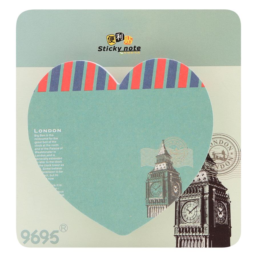 Giấy Note Hình Tim No.1050 - Hình London 1