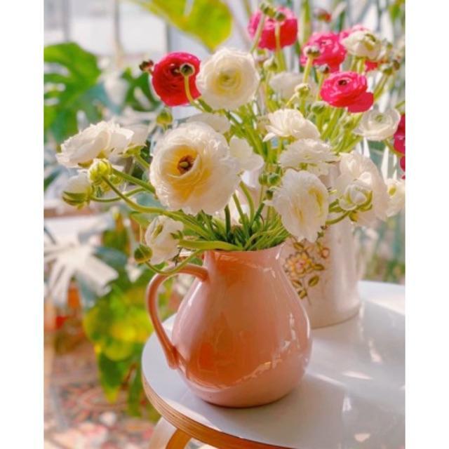 Lọ hoa dáng bình sữa gốm sứ Bát Tràng Cao 17cm
