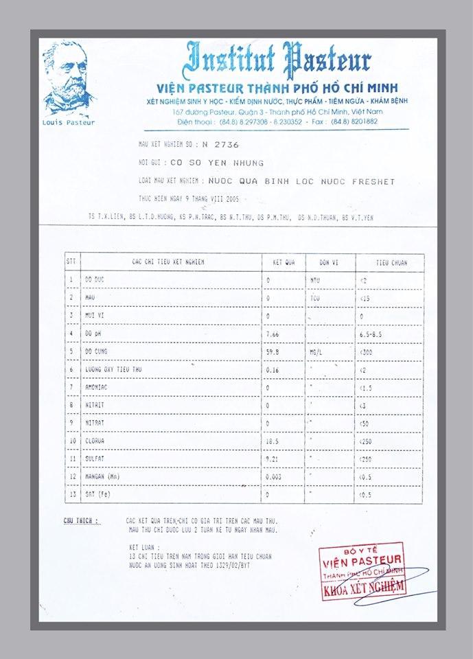 Bình lọc nước gia đình cao cấp Freshet Hàn Quốc chính hãng màu xanh cốm 16 lít