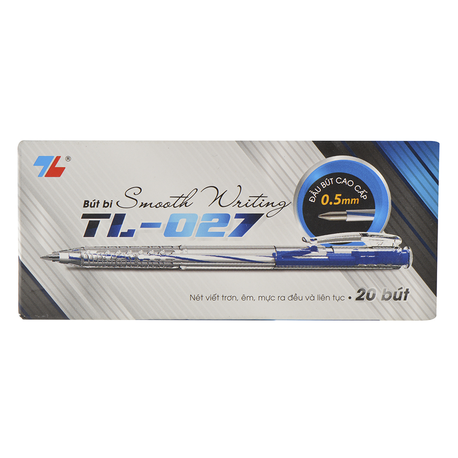 Hộp 20 Bút Bi Thiên Long TL-027 - Xanh