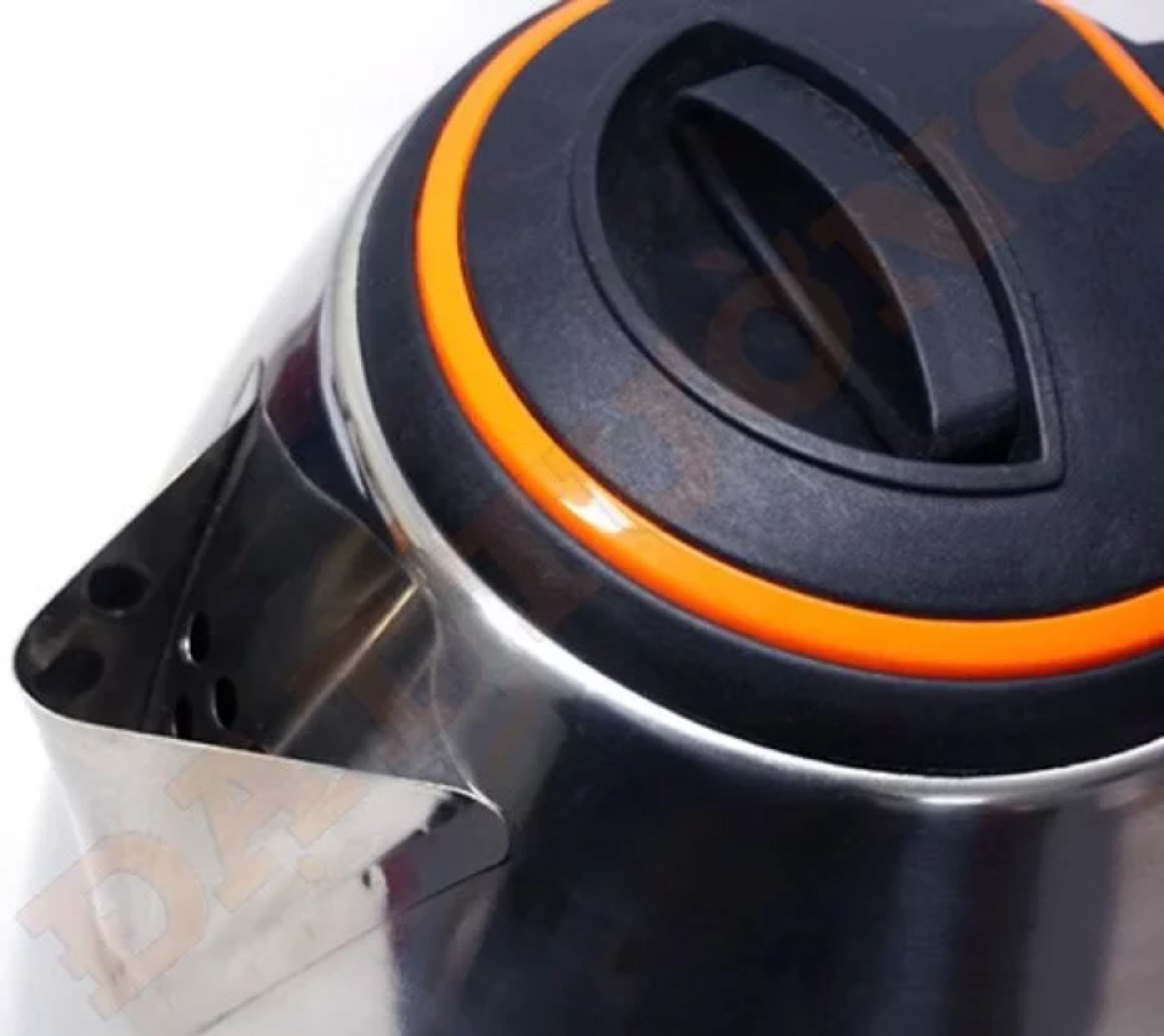 Ấm siêu tốc quai đen 1,8 Lít Đạt Tường – ST-02  - Trắng Inox