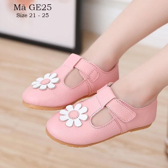 Giày bé gái 1 - 3 tuổi giày búp bê cao cấp chất da thật siêu mềm êm cho bé GE25