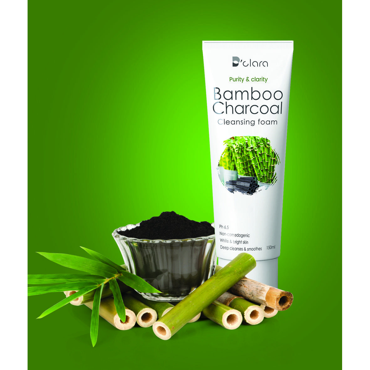 Bamboo charcoal cleansing foam