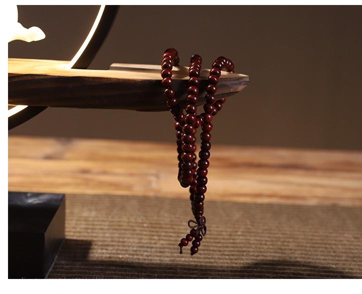 Vòng đeo tay chuỗi hạt 108 hạt gỗ hồng phong thủy