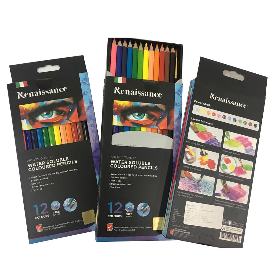 Bộ Bút Chì Màu Nước Renaissance Masterart Series (12 Màu)