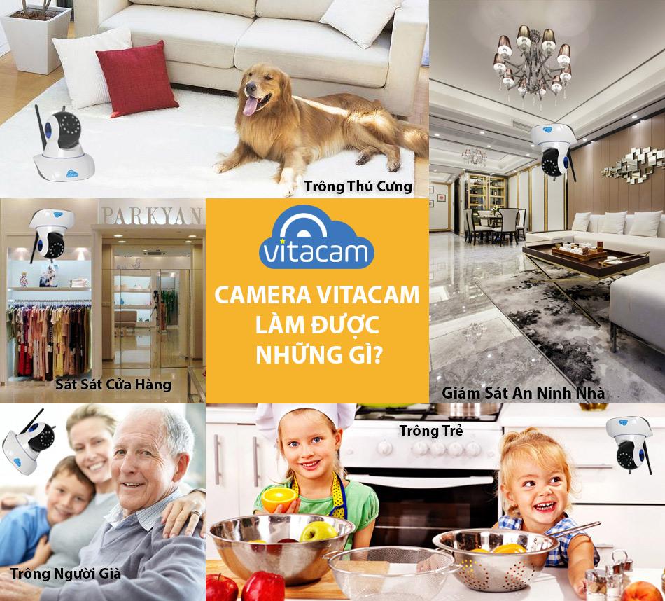 Camera Ip Vitacam C720 Cao cấp Cho Gia Đình Việt - Hàng Nhập Khẩu