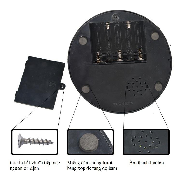 Đồng hồ báo thức để bàn thông minh Alarm Clock  ( Tặng kèm pin )