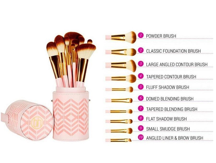 Bộ cọ trang điểm BH Cosmetics 10 cây – Pink Perfection 10 Piece ...