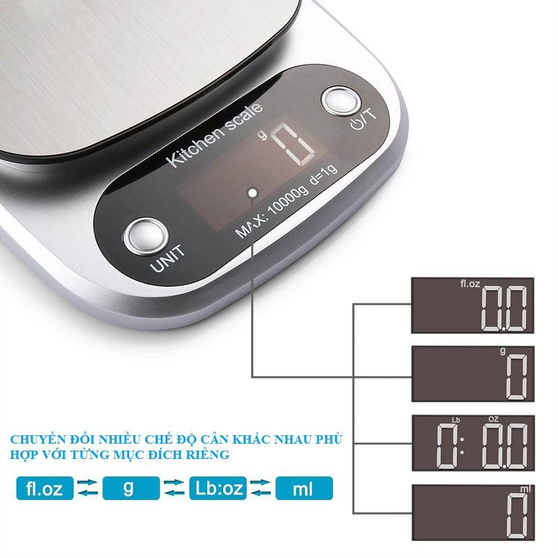 Cân điện tử nhà bếp độ chính xác cao 10kg/1g