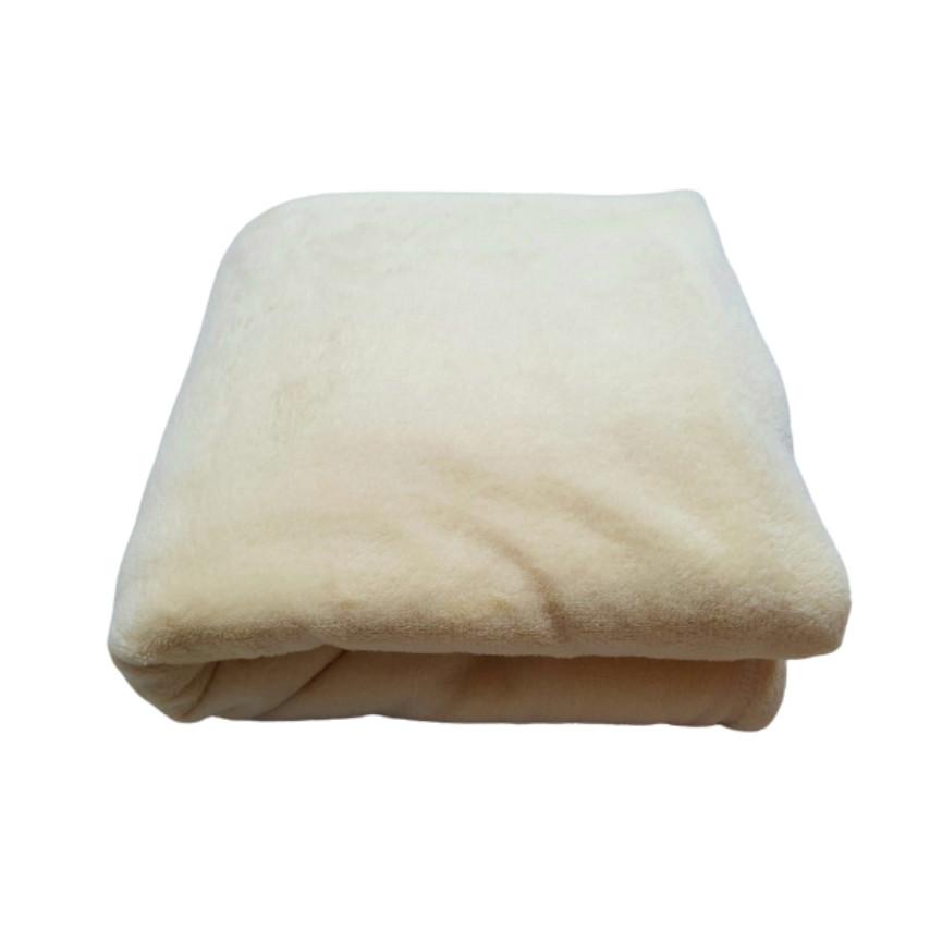 Mền lông cừu văn phòng, du lịch, Vàng Bò 1.2 x 1.6