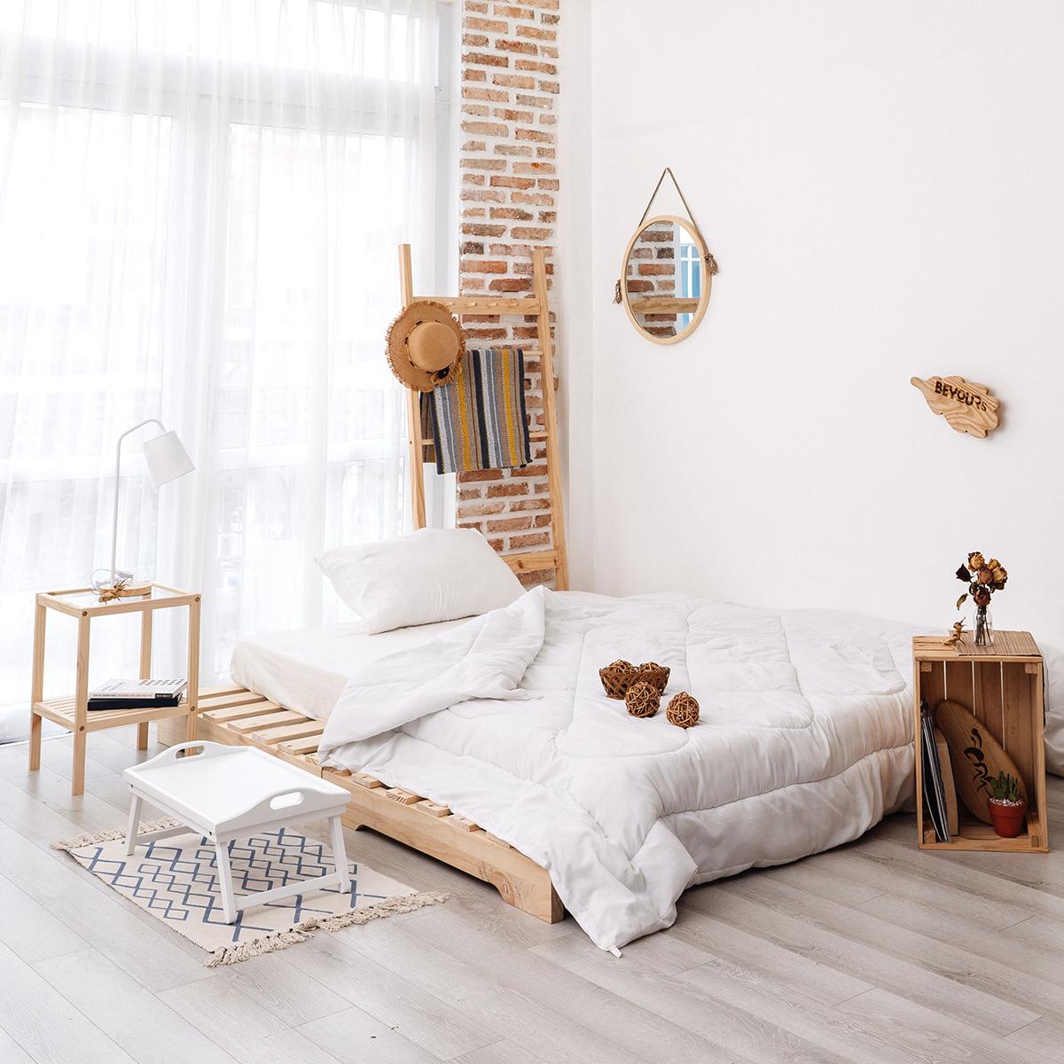 Giường Ngủ Pallet Gỗ Nội Thất Kiểu Hàn BEYOURs