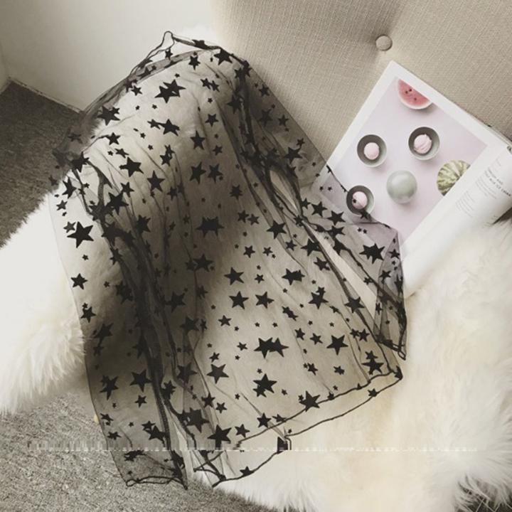 Áo the lưới hoa văn sao trong suốt mặc ngoài hoặc mặc lót bên trong C036