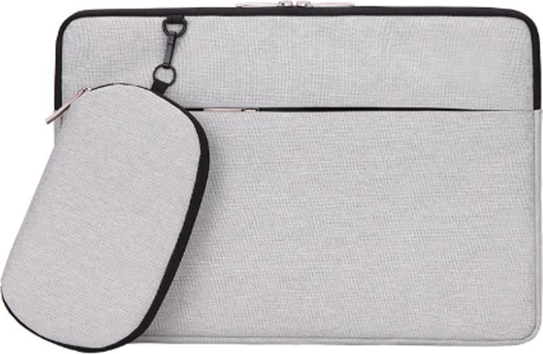 Túi chống sốc cho laptop kèm túi phụ rời - Bạc - 13 inch