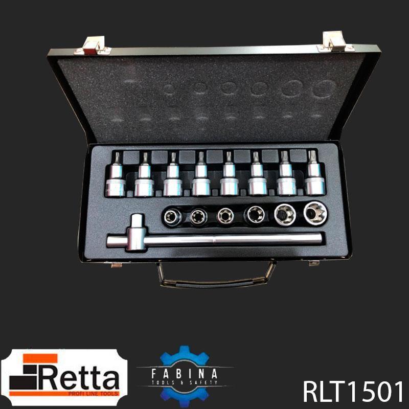 BỘ ĐẦU NỐI - TAY VẶN T 1/2 INCH 15 CHI TIẾT RETTA - RLT1501
