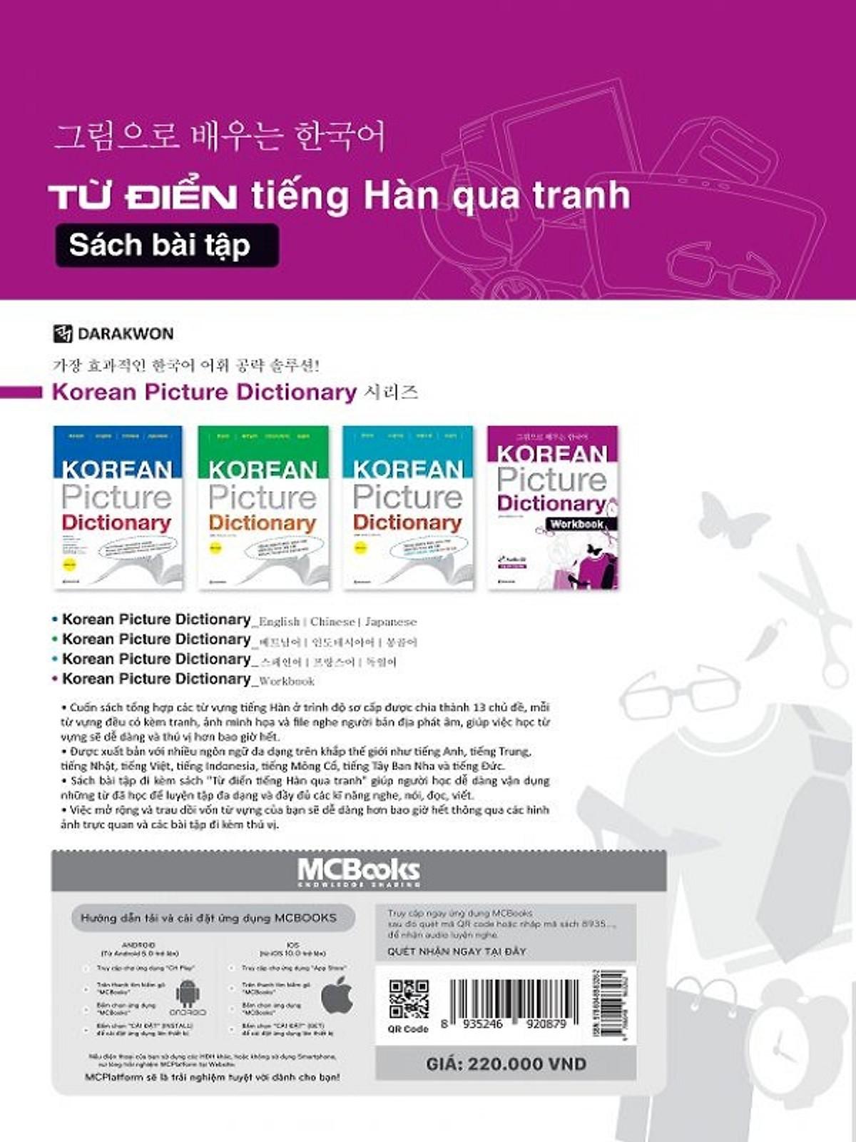 Từ Điển Tiếng Hàn Qua Tranh - Sách Bài Tập ( tặng kèm bookmark )