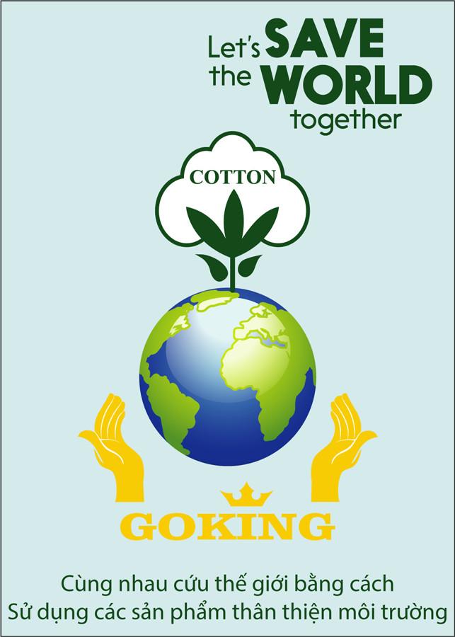 Áo thun nam thoát nhiệt Nhật Bản GOKING, chất liệu tự nhiên 100% cotton thoáng mát, thấm hút mồ hôi