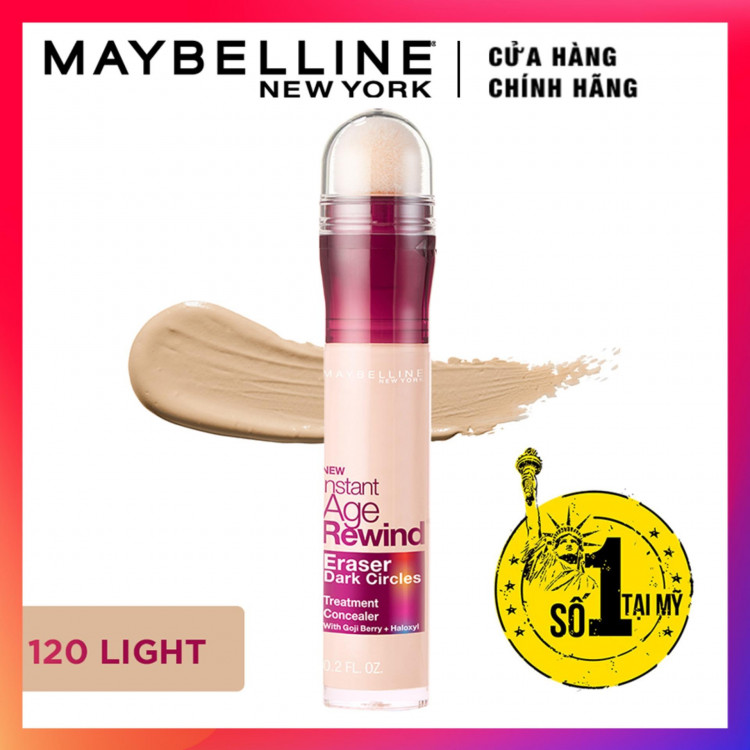 Bút Che Khuyết Điểm Maybelline Age Rewind - Màu 120 Light 6,2ml 1
