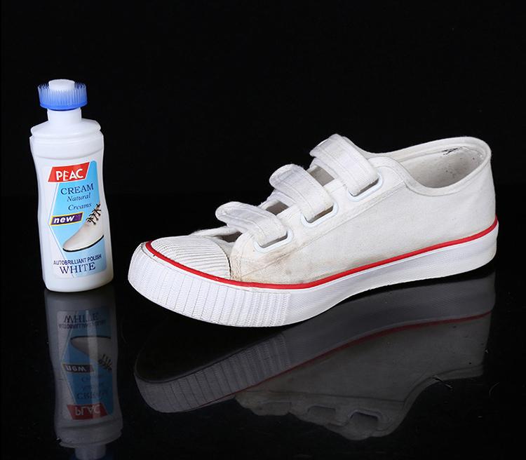 Bộ 2 Bàn chải  vệ sinh giày 3 in 1 đa năng 25*4*4cm, giao màu ngẫu nhiên +Tặng kèm chai tẩy trắng giày