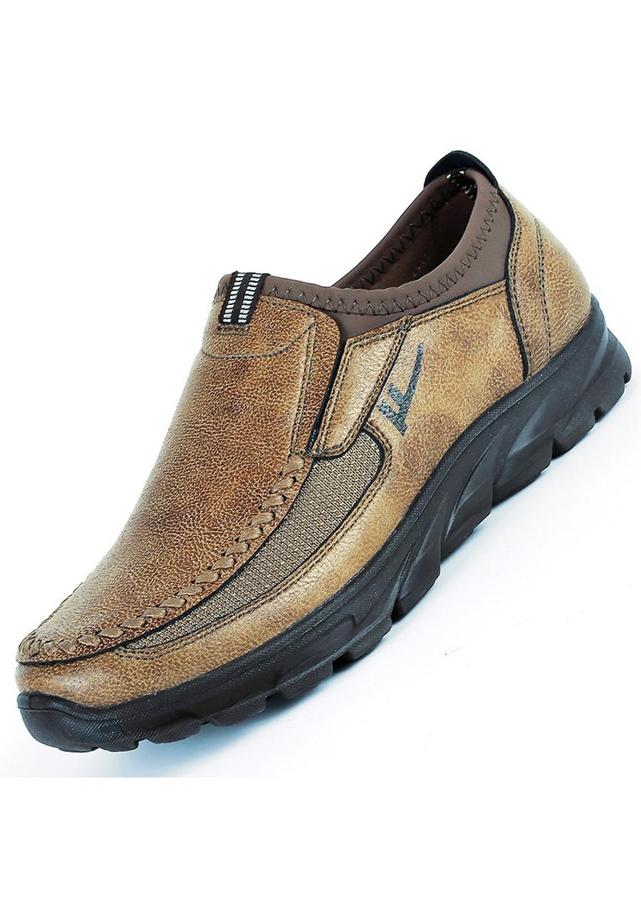 Giày mọi nam, giày lười nam big size số 44 45 46 47 48 cho chân to lớn ngoại cỡ - GL013