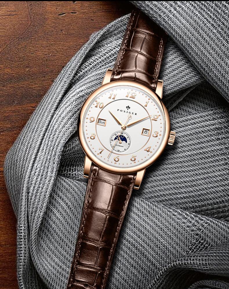 Đồng hồ nam chính hãng Poniger P9.15-1