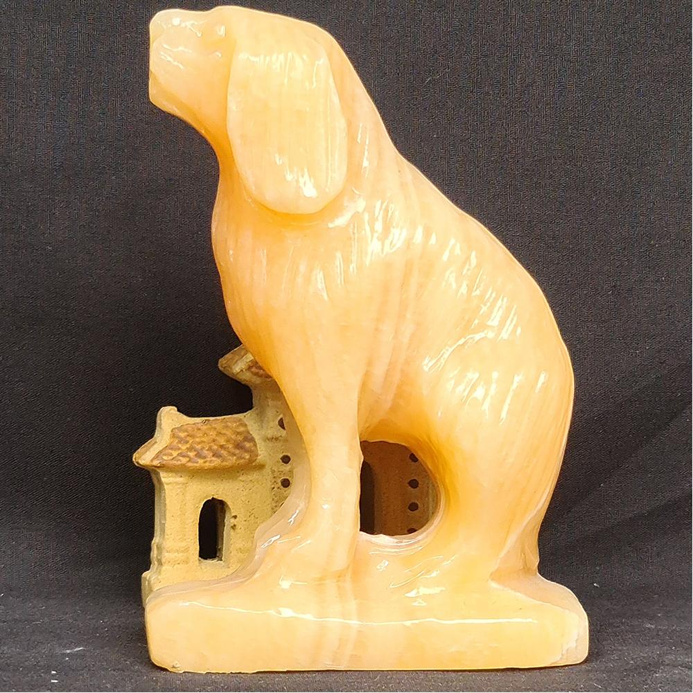 Tượng Phong Thuỷ Tuổi Tuát - Chó 12 Con Giáp Đá Ngọc Hoàng Long - 8cm - Mx - Hợp Mệnh Thổ, Kim