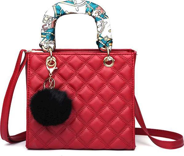Túi xách tay, đeo vai nữ buộc nơ  - Đỏ