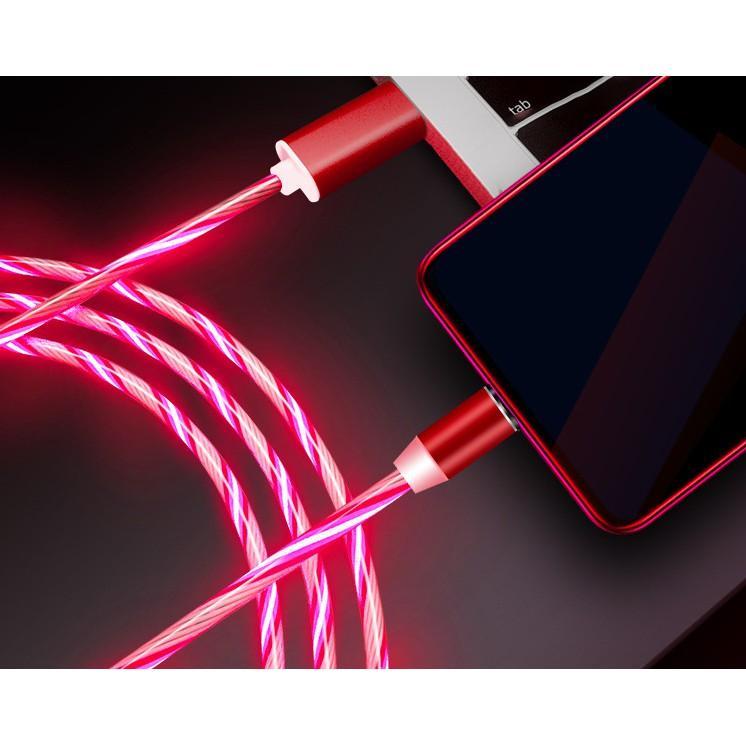 Cáp Sạc Từ, Đồng Bộ Dữ Liệu Hít Nam Châm 3in, chân Micro USB,  iphone, sam sung, typ C