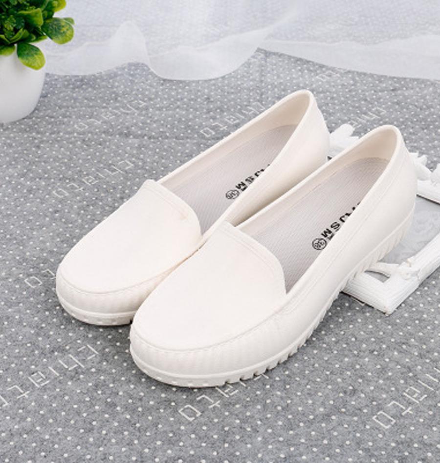 Giày Moca giày nhựa đi mưa màu nhiều màu size 36 đến 40 V177 - Trắng - Size 40
