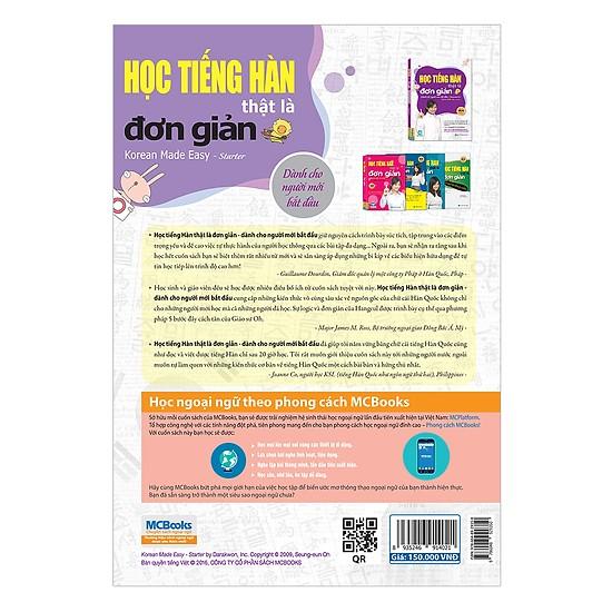 Học Tiếng Hàn Thật Là Đơn Giản - Dành Cho Người Mới Bắt Đầu (Tặng kèm Bookmark PL)