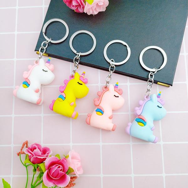 Móc khóa ngựa Unicorn nhiều màu sắc ✓Hàng mẫu 2(giao màu ngẫu nhiên)