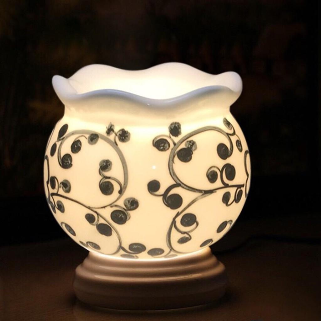 Đèn Xông Tinh Dầu Gốm Bát Tràng Size Trung ( thơm nhà, đuổi muỗi, tiện lợi)