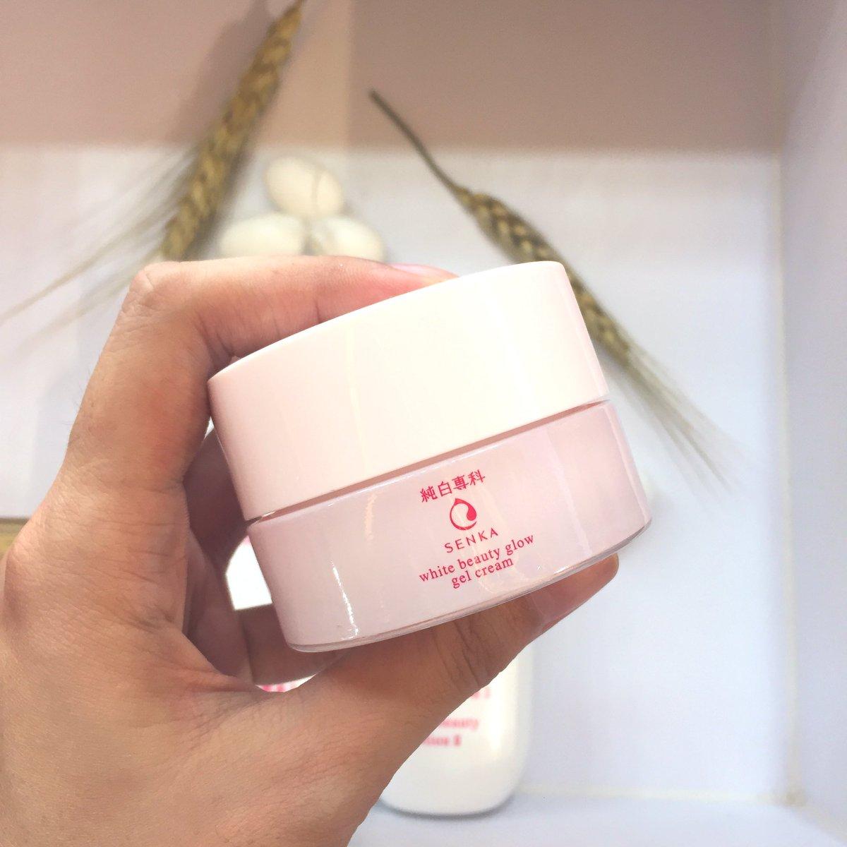 Combo Kem Dưỡng Trắng Senka White Beauty Glow Gel Cream & Tinh Chất Senka White Beauty Serum 35g