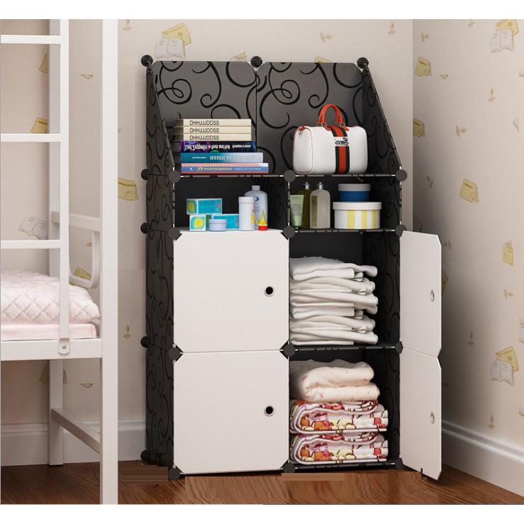 Tủ đựng đồ lắp ghép (4 ô lớn, 2 ô nhỏ, 1 ô xéo lớn) tiết kiệm diện tích