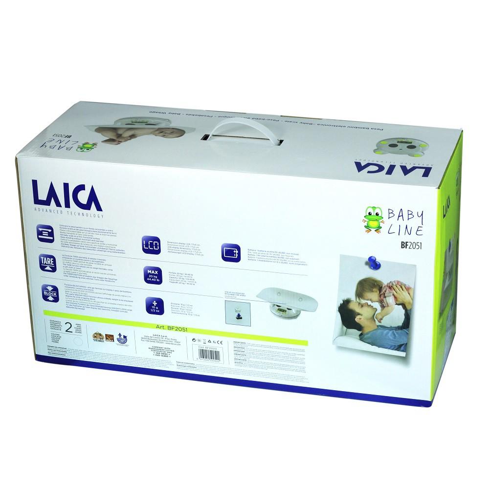 Cân trẻ em điện tử LAICA BF2051 - Mức cân tối đa 20 Kg - Tối thiểu 800g - Thước đo chiều cao 150 cm