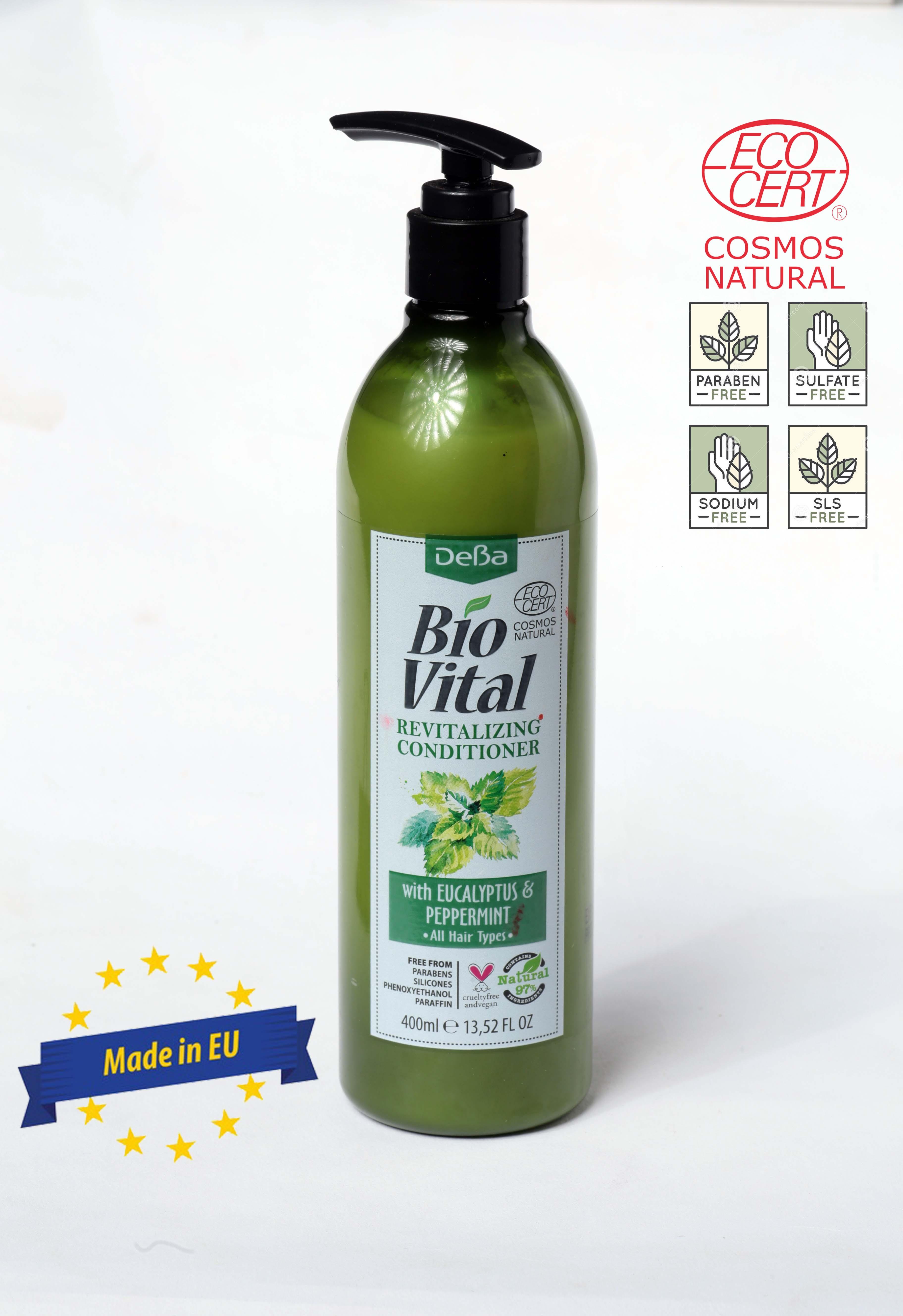 Dầu Xả Hữu Cơ Nhập Khẩu Phục Hồi Ngăn Ngừa Gàu Deba Bio Vital Peppermint & Eucalyptus